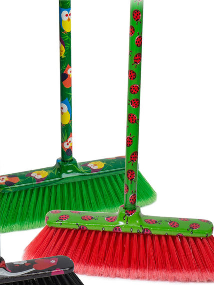 fantasy broom + decorated handle cm.120