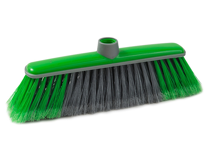 unika broom assorted colours with rubber