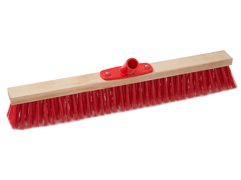 push broom wood block cm 80 plastic screw