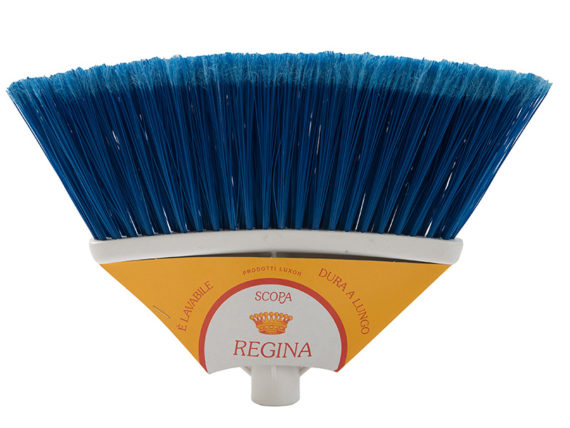 regina broom with cardboard