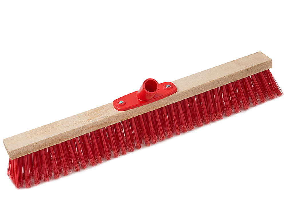 push broom wood block cm 40 plastic screw