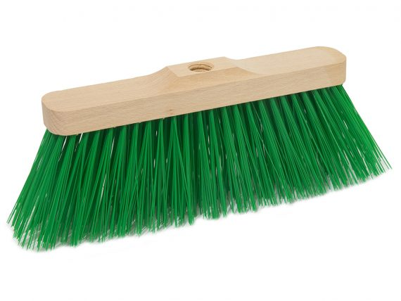 wood industrial broom green