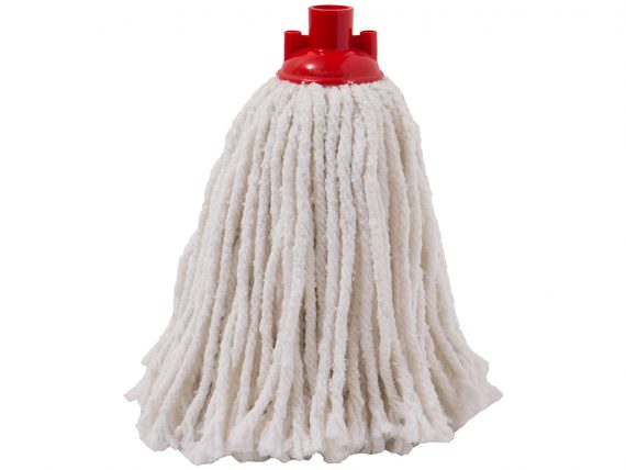 white cotton mop