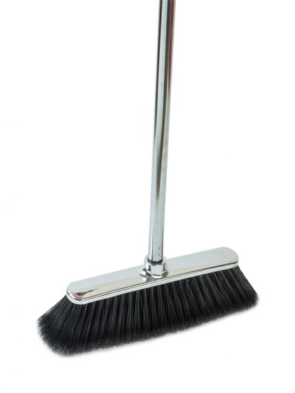 Chrome Silver Broom + Chromium metal handle CM.120