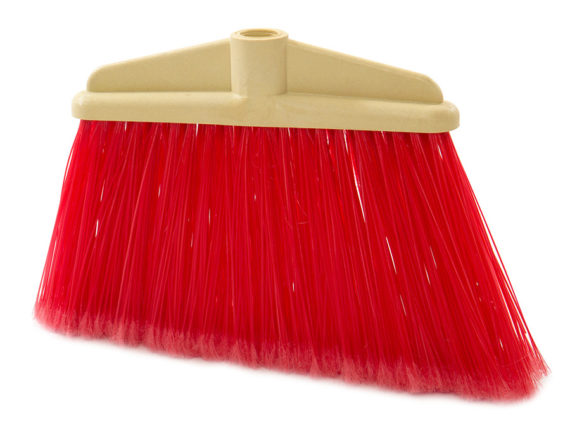 garden broom long fibre angled