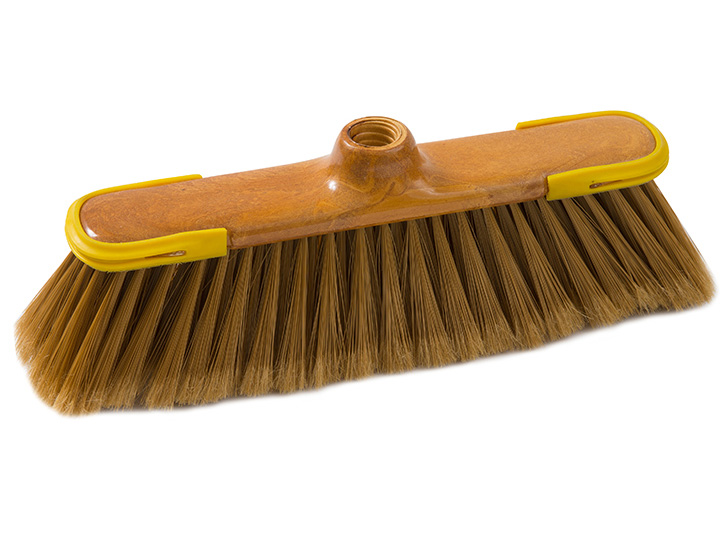 klenia broom faux wood with rubber