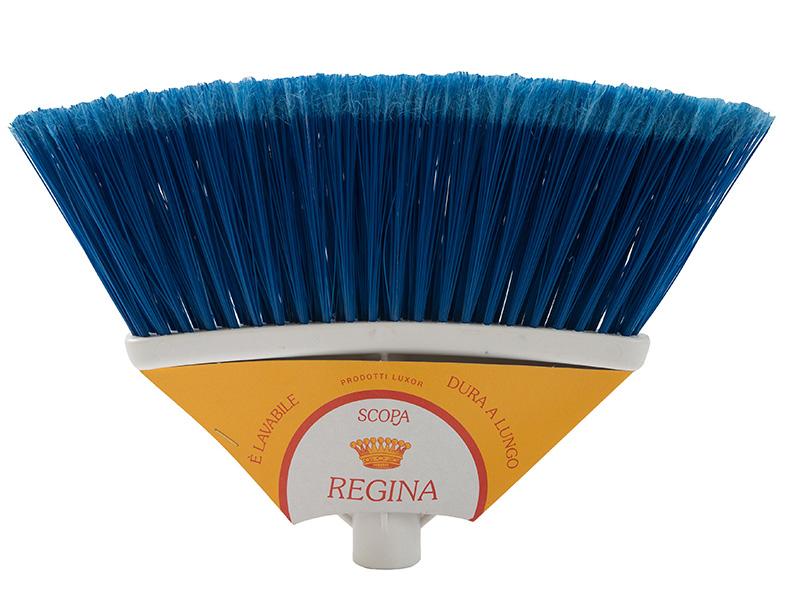 regina broom with cardboard