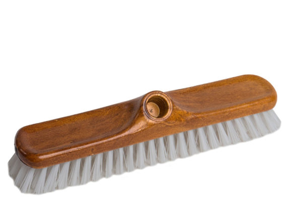 varnished scrubbing brush